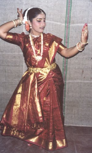 A South Indian Dancer Poses