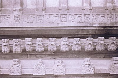 Lion Faced Panels and Birds