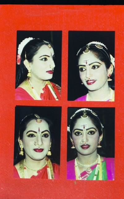 Faces of dancers