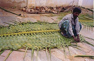 Kamat S Potpourri Man Weaving A Palm Leaf