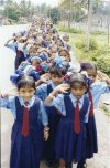 School Girls at an Independence Day Procession