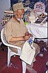 Elderly Kashmiri Craftsman at Work