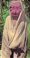 Masked Man Belonging to Muria Tribe