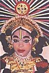 A woman Yakshagana performer