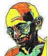 Mahatma Gandhi in a Rangoli Design