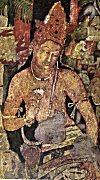 Bodhisatva with a Lotus in Hand<br>From a Cave Painting in Ajanta