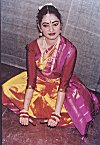 A South Indian Classical Dancer Poses
