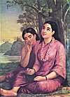 Shakuntala Composing a Love Letter to King Dushyanta