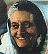 Portrait of Indira Gandhi