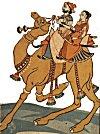Rajput Couple Riding a Camel