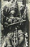 Goddess Saraswati holding the book of knowledge