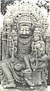 Lord Narasimha (Lion faced Vishnu) Seated with His Consort