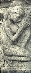 Sculpture of a female worshiper
