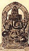 Black marble idol of Lord Ganesh, Sirsi