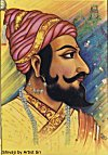 Painting of Shivaji by Artist Sri