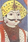 Portrait of a nobleman, Mysore traditional painting