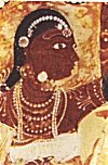 Ornaments of a lady, Lepakshi painting
