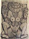 Lajja Gowri with Lotus Face