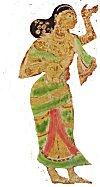Woman in sari (Indian drape)