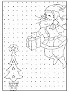 Santa Clause in Rangoli Design! <br> Just Join the Dots