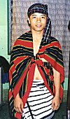 A Mizo Youngster in Traditional Clothing