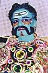 A Folk Artists as a Fearsome Rakshasa (Deamon)
