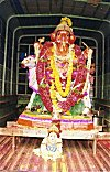 Ganesh Being Carried to Visarjan (disposal) in a Truck