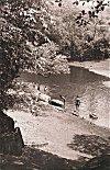Children Bathing at the Village Pond