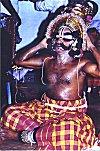 Yakshagana Artist Puts on Makeup