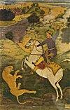 Emperor Babur Hunting a Tiger
