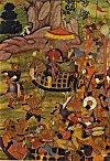 Mogul Emperor Babur with his Army