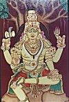 Lord Shiva in Gesso Art work