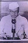Subhash Chandra Bose Making a Radio Broadcast