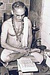 A Sanskrit Scholar Engrossed in Study