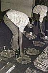 Man Serves Food On Organic Plates