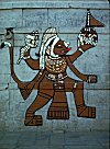 Wall Painting of Hanuman in Rajasthan