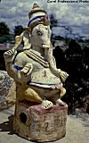 An idol of Ganesh made with clay