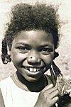 A Smiling Siddi Girl