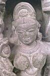 Carved Bust of a Celestial, Khajuraho