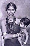 Halakki Tribal Woman and Her Child