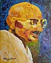 Portrait of Mahatma Gandhi