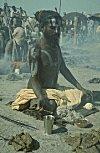 An ascetic (Sadhu) performing rituals