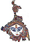Kamat Fits Goddess Kali in a Map of Bengal